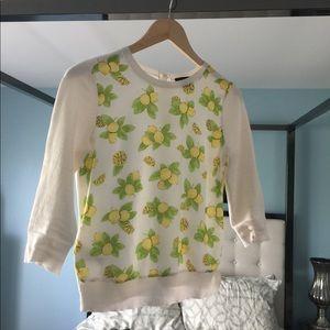 EUC Ann Taylor For Love Lemons 🍋 3/4 Sleeve TopXS